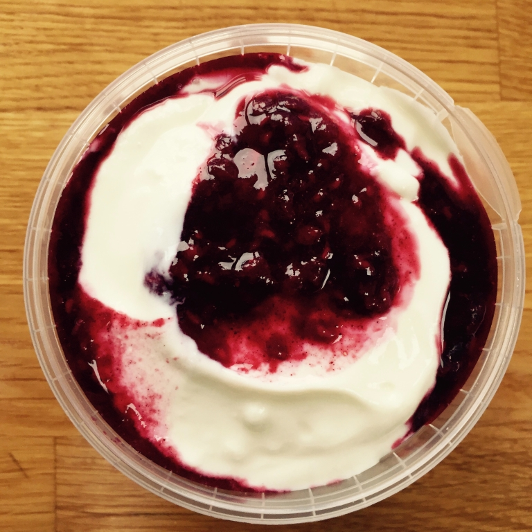 Yogurt with homemade compote